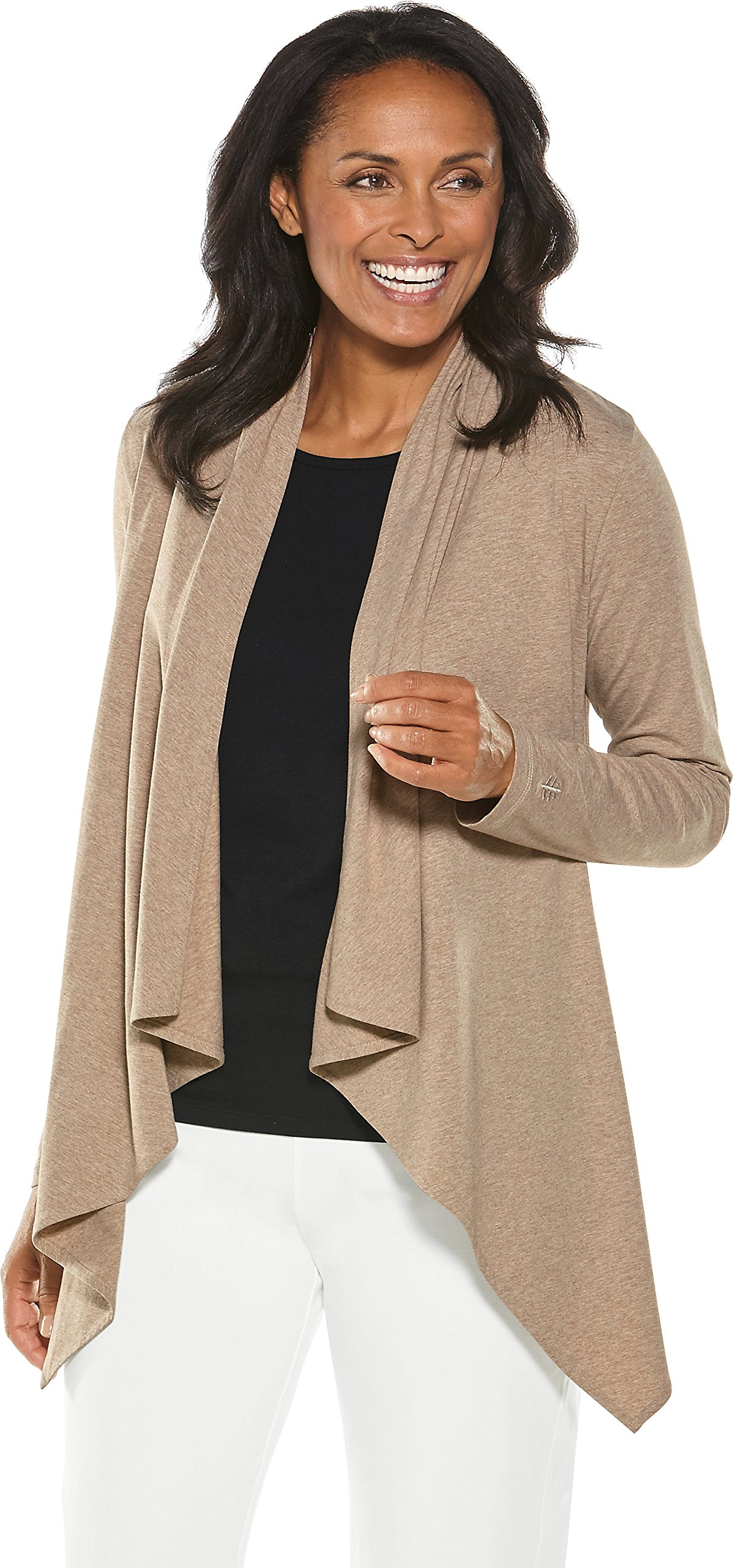 Coolibar UPF 50+ Women's Sun Wrap - Sun Protective (Medium- Dark Taupe Heather)