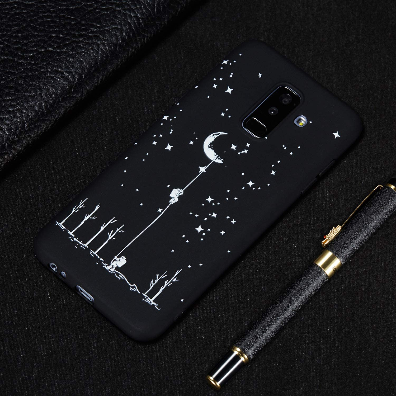 Silicone Ultra Mince Fine Etui Noir Solide Bumper de Mignon Black Case Compatible for Samsung Galaxy A6 2018 BoRan Coque Samsung Galaxy A6 2018 Housse JAi Besoin de Mon Espace Stand Libre