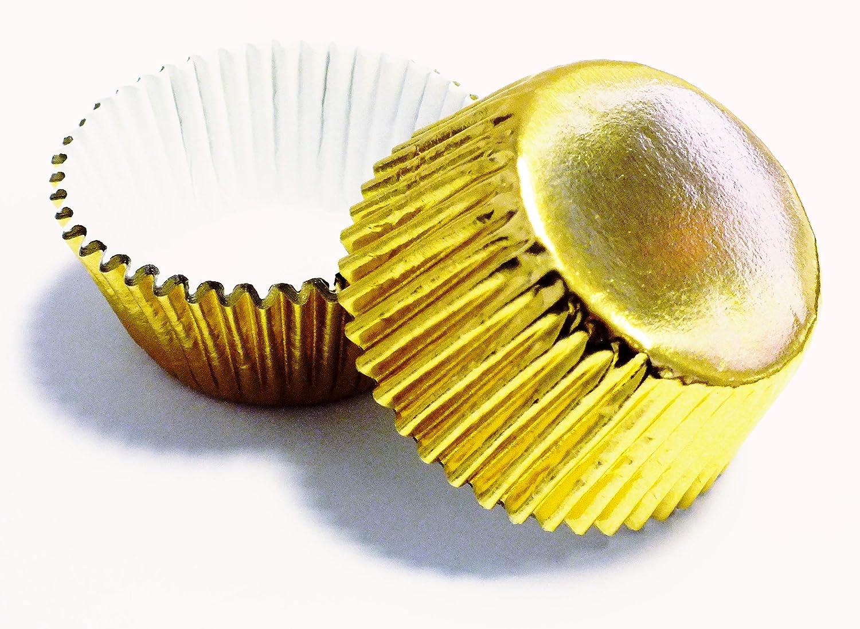 24 Muffinförmchen gold