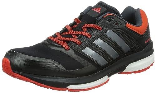pretty nice 61961 74e3d adidas Revenge Boost Climaheat M - Zapatillas para Hombre, Color Negro Gris Naranja,  Talla 42  Amazon.es  Zapatos y complementos