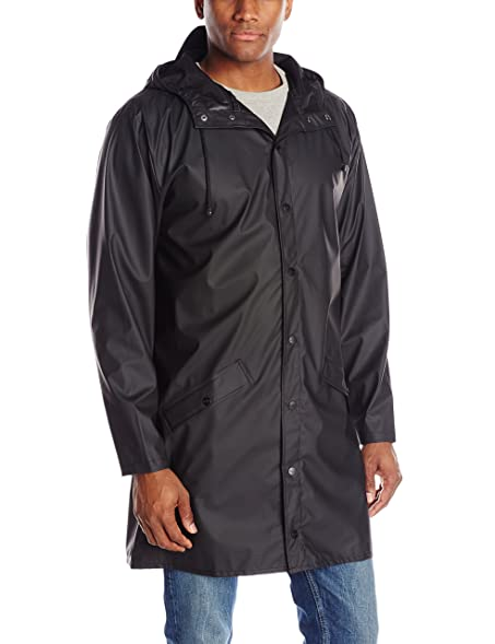 RAINS Men's Long Jacket at Amazon Men's Clothing store: