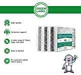 Green Label HVAC Air Filter 20x25x4, AC Furnace Air Ultra Cleaning Filter MERV 16 - Pack of 4