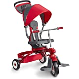 Radio Flyer Deluxe EZ Fold 4-in-1 Stroll 'N Trike, Red