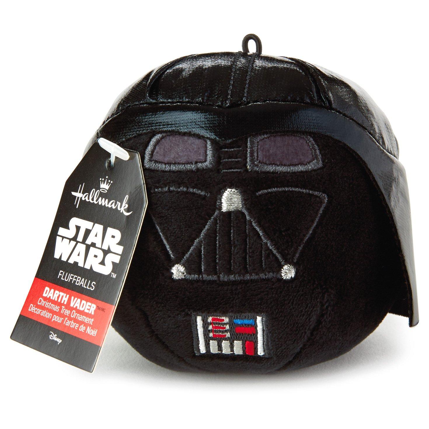 Amazon: Hallmark Star Wars Darth Vader Fluff Ball Ornament: Home &  Kitchen