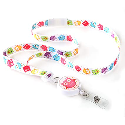 Hoot Winked Ribbon Lanyard