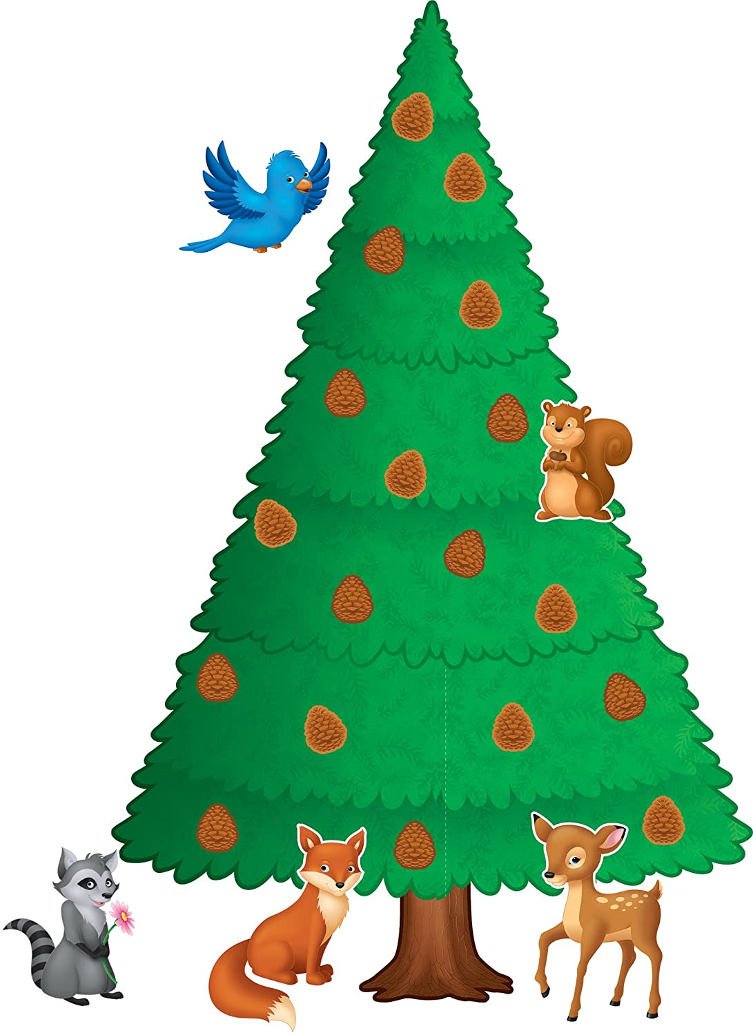 Christmas Tree Display Board.Teacher Created Resources Woodland Pine Tree Bulletin Board 5864