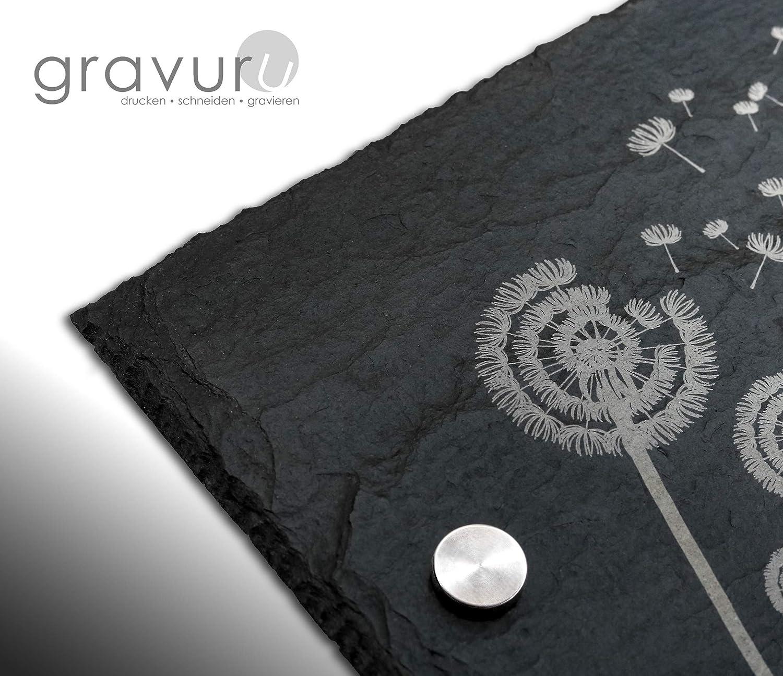 Gr/ö/ße 20x30 cm Schiefer T/ürschilder mit Gravur Namensschild Briefkastenschild selbstklebend//blank Klingelschild mit mehr als 80 Motive