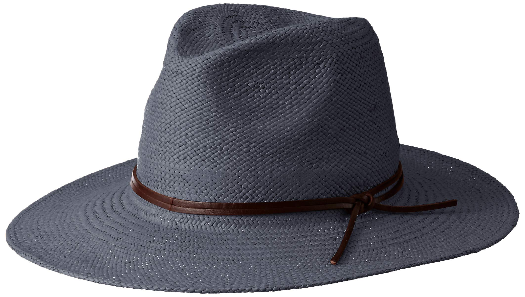 Frye Headwear Women's Frye Straw Fedora Weston, Indigo, Small/Medium