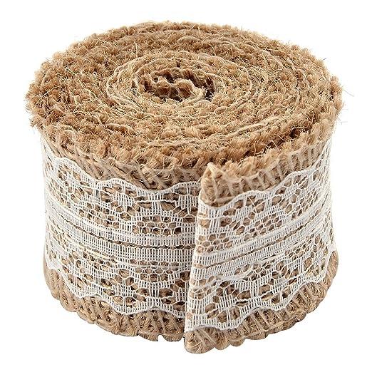 Amazon.com: eDealMax arpillera Correa de la Cadena de artesanía Rollo de Cinta de Encaje 2.2 yardas Blanca Para decoración de la boda: Health & Personal ...
