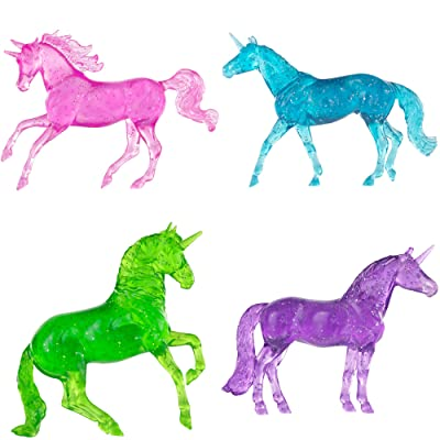 "Breyer Horses Stablemates Clearware Glitter Unicorns Gift Set | 4 Horse Set | Horse Toy | Horse Figurines | 3.75"" x 2.5"" 
