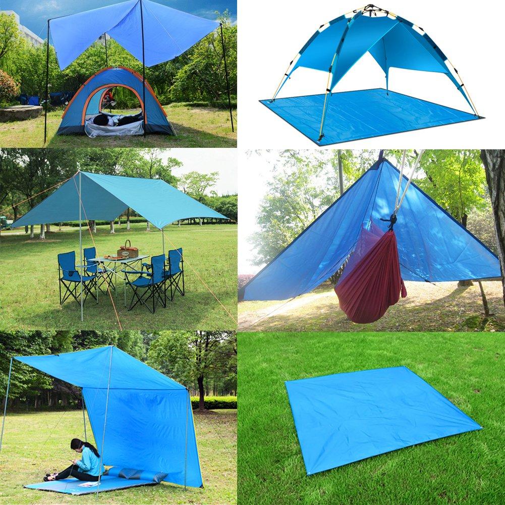 AUTOPkio Hamaca Rain Fly Tarp, Lona de Tienda Impermeable de 3mx3m Lona del toldo del Refugio Que acampa, 210T Impermeable tafetán poliéster Ligero para ...