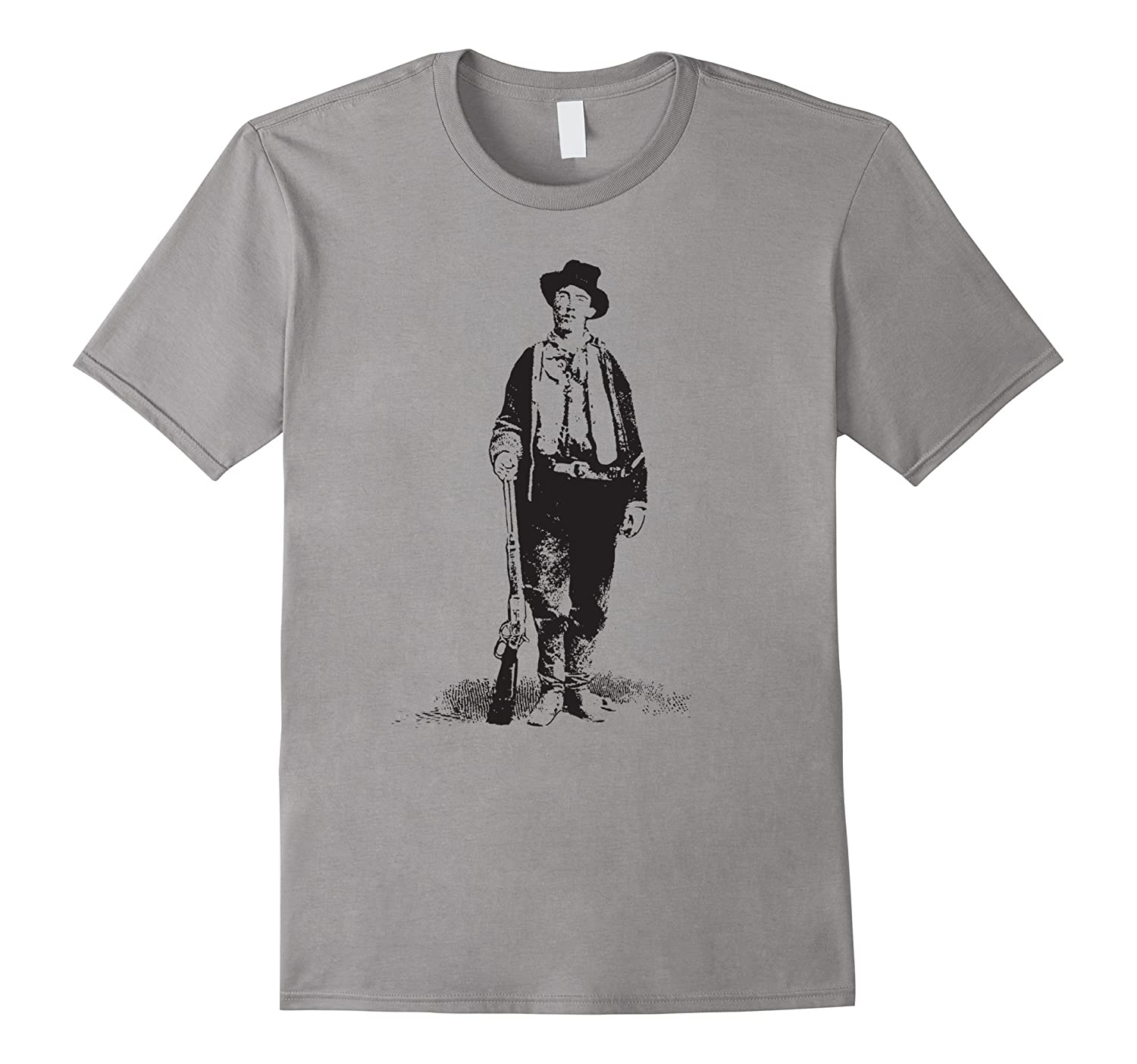 Billy the Kid Gunslinger Vintage T-Shirt Historical Classic-TD