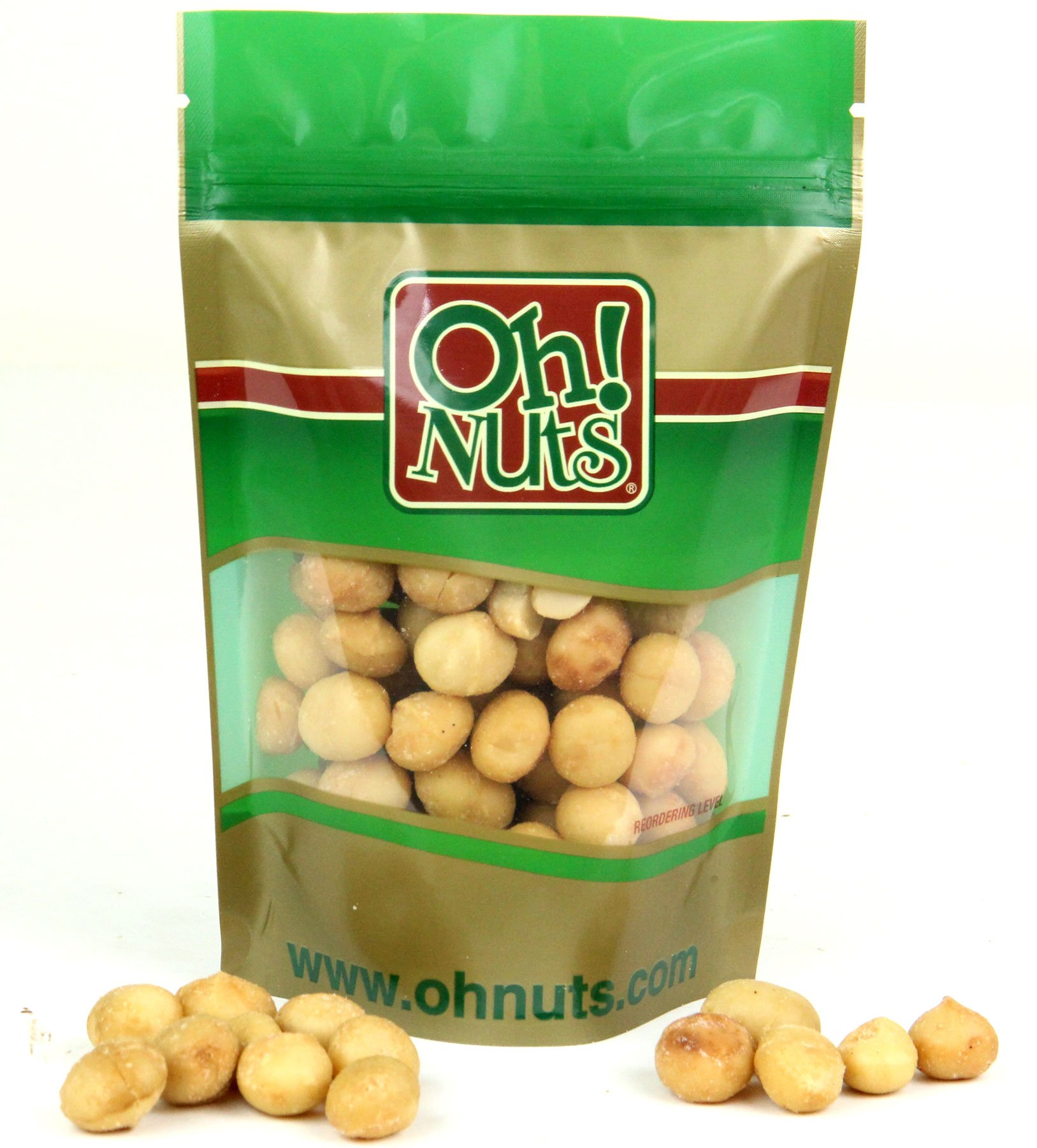 Roasted Salted Hawaiian Macadamia Nuts 5 pounds - Oh! Nuts