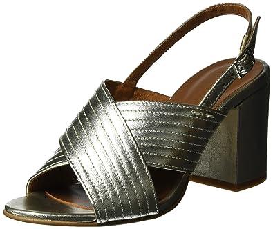 Heel, Sandales Compensées Femme, Argent (Laminado Silver), 38 EUShoe Biz