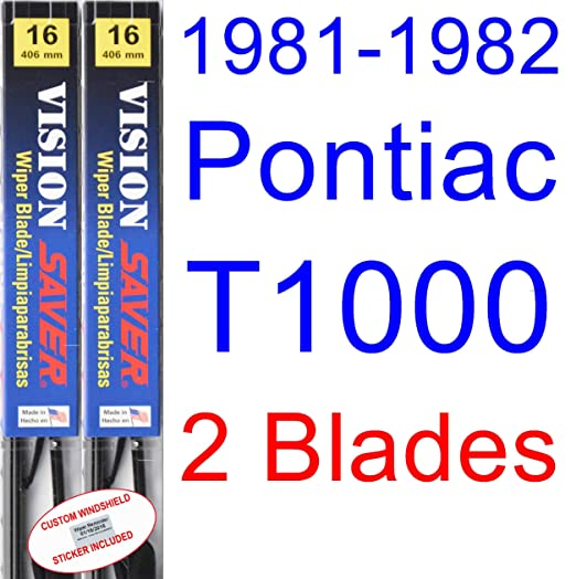 Amazon.com: 1981-1982 Pontiac T1000 Wiper Blade (Driver) (Saver Automotive Products-Vision Saver): Automotive