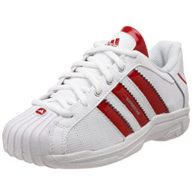 adidas Little Kid Superstar 2G Ultra C Basketball Shoe,Running  White/University Red/