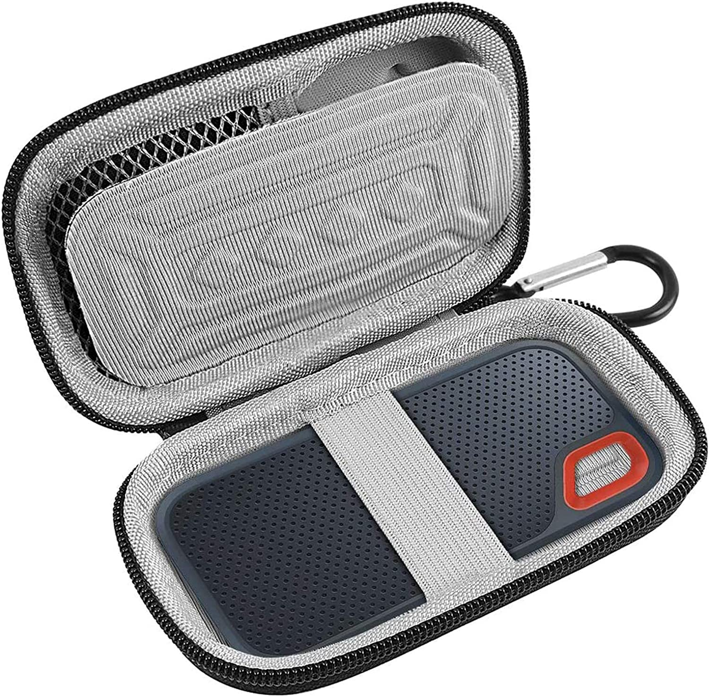 Gris /Étui de Transport Rigide pour SanDisk Extreme Portable SSD 250GB 500GB 1TB 2TB par XANAD