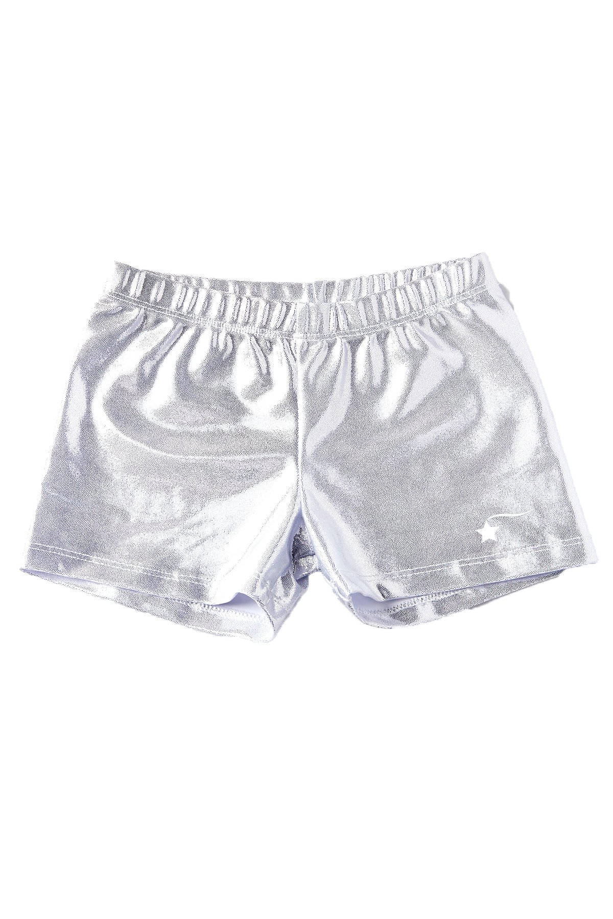 e4e260e93 Galleon - DESTIRA Silver Gymnastics Sport Shorts For Girls