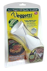 Ontel Veggetti Spiral Vegetable Slicer, Makes Veggie Pasta