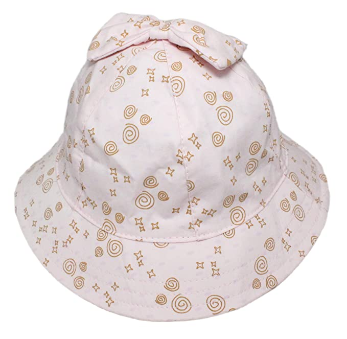 8fb6eaee9ad Baby Children Girls Pink Summer Bucket Sun Hat with Bow and Chin Strap Age  6-12M 1-2Y 2-4Y  Amazon.co.uk  Clothing