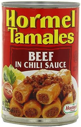 Hormel tamales: carne de vacuno en Chili Sauce (Pack de 3) 15 oz ...