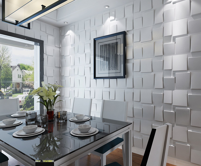 Art3d Architectural 3D Wall Panels Textured Design Art Pack of 12 Tiles 32 Sq Ft A10020
