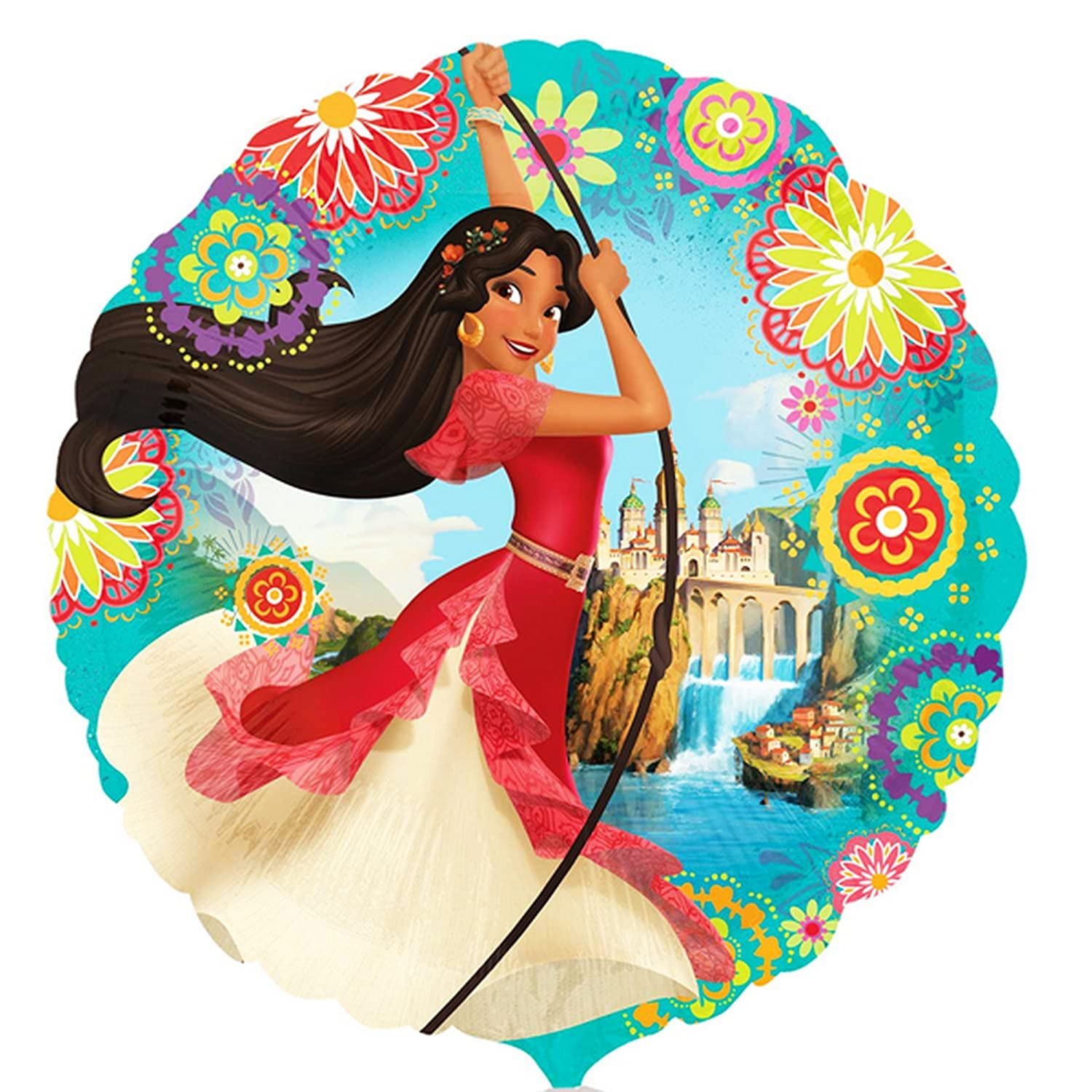 Anagram Elena of Avalor 18 Inch Circle Foil Balloon (One Size) (Multicolored) UTSG11888_1