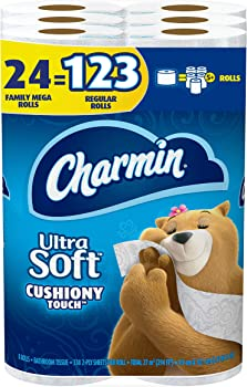 24-Pack Charmin Ultra Soft Family Mega Roll Toilet Paper
