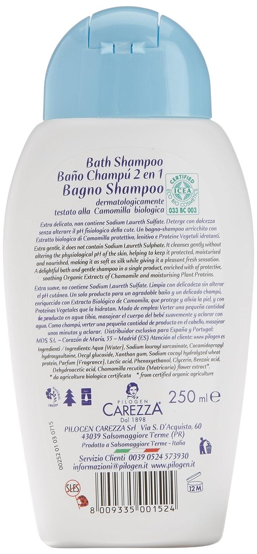 Bio Bio Baby Baño-Champú a la Camomila Biológico Certificado - 250 ml: Amazon.es: Belleza