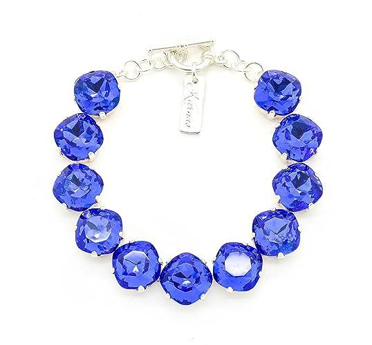 Amazoncom Out Of The Blue 12mm Sapphire Doublet Bracelet Cushion