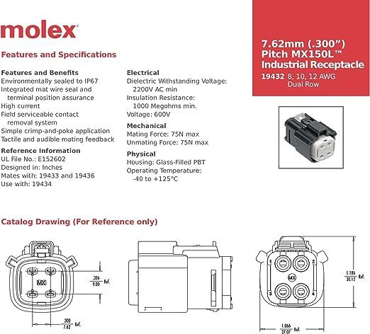 tpr.sa Industrial & Scientific Fittings Pack of 15000 Molex ...