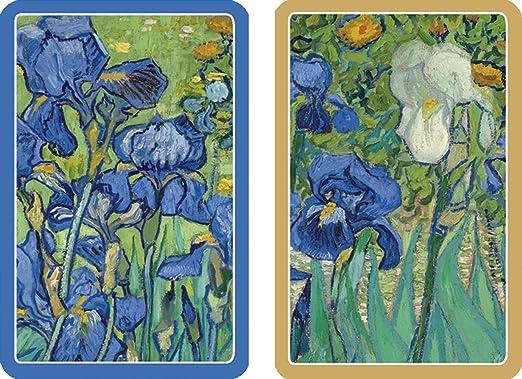 Mazzo Di Fiori Van Gogh.Amazon Com Caspari Double Deck Of Bridge Playing Cards Jumbo