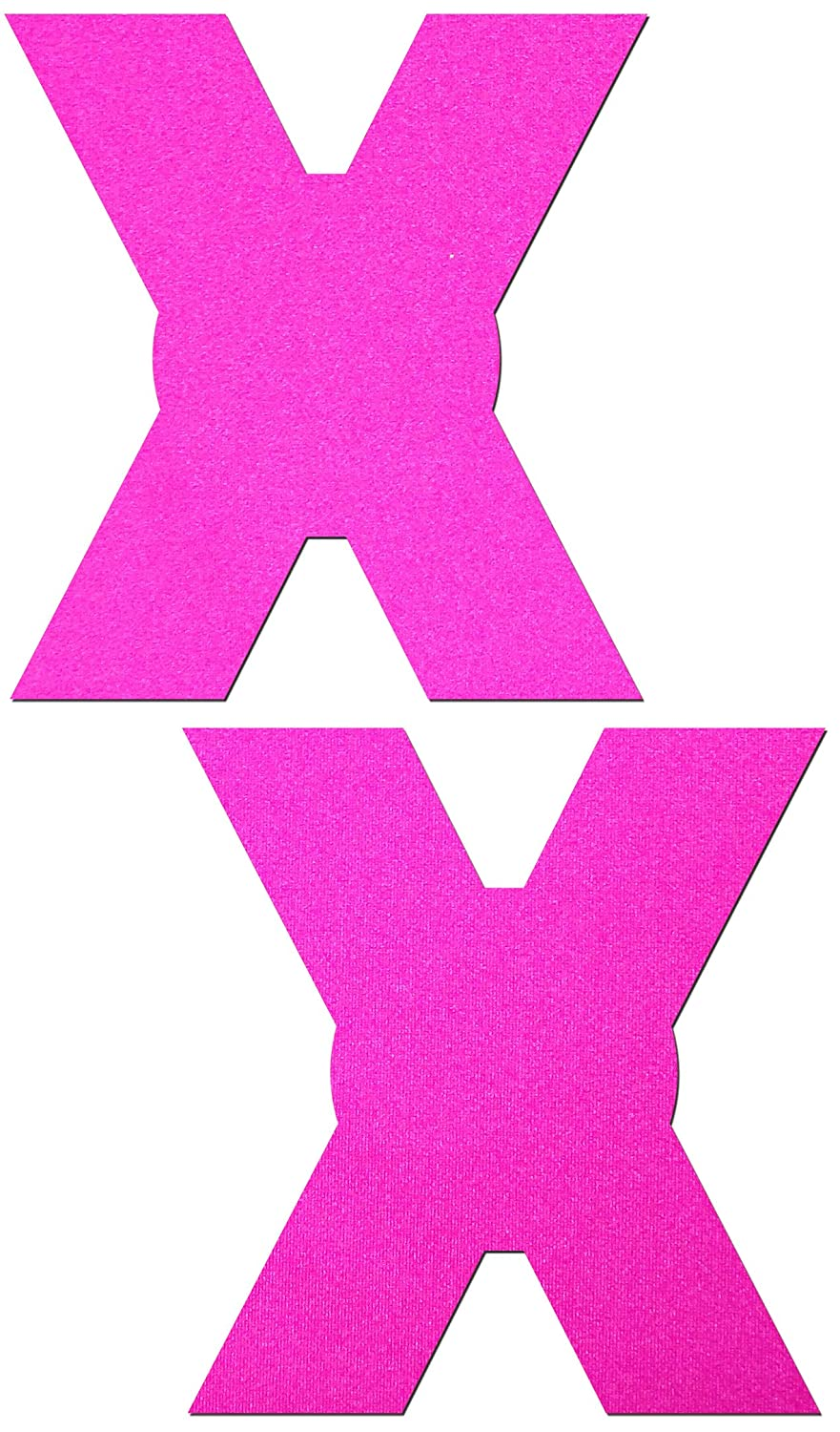 Pastease Women's X: Neon Pink Day-Glow Lycra X Nipple Pasties o/s X-NPK