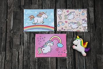 Microfibra Paño para Limpieza de Juego con unicornio Diseño, 3 piezas, 15 x 20