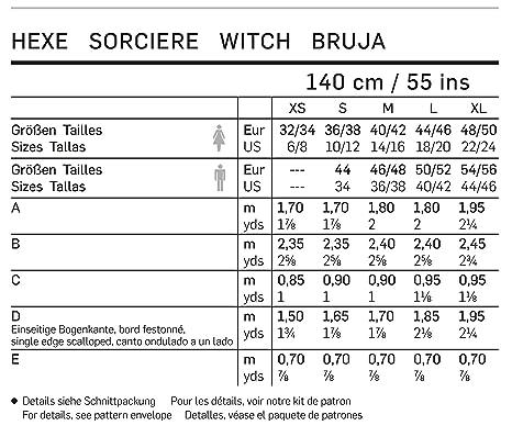 Burda 2366 Schnittmuster Kostüm Karneval Fasching Hexe (Damen ...