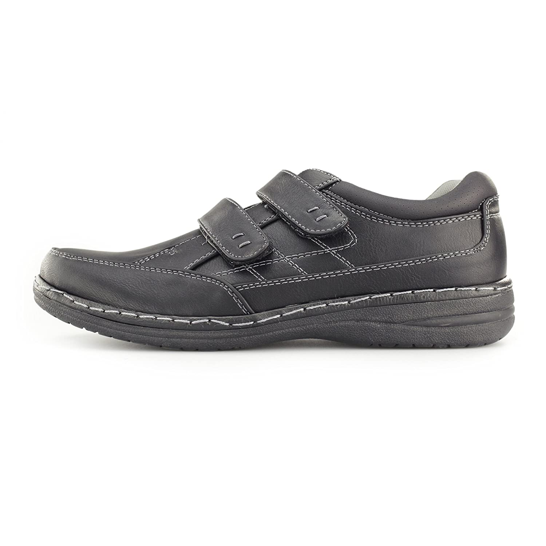 Dr Keller MOSTON Mens Touch Fasten Wide Fit Shoes Black: Amazon.co.uk: Shoes  & Bags