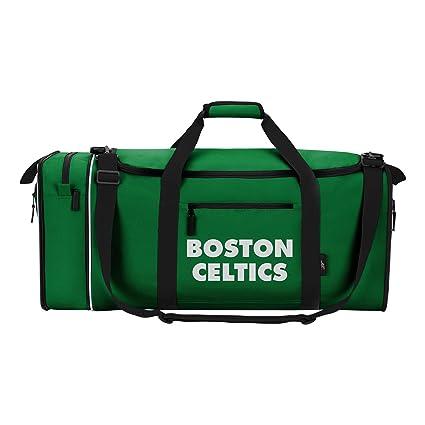 68c45f19fedb Amazon.com   Officially Licensed NBA Boston Celtics Steal Duffel Bag ...