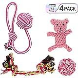 Hundespielzeug Set,Haustier welpenspielzeug Kauspielzeug Seil für kleine Welpen Hunde