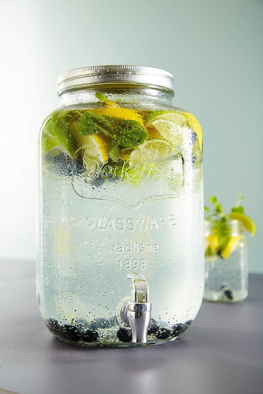 Schou Dispensador Bebida con Grifo de 8 l, Multicolor, 19x19x32 cm