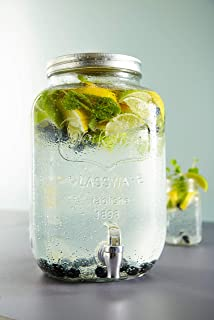 Levivo Dispensador de bebidas de vidrio, con grifo, ideal ...