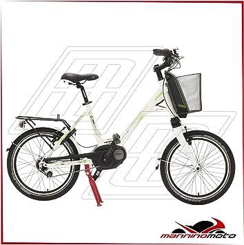 Bicicleta eléctrica Lombardo 20 e-mia Nexus Motor Bosch Active – 300 WH – 2017, BIANCA,VERDE: Amazon.es: Deportes y aire libre