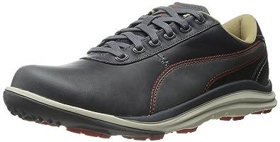 Puma BioDrive Leather Golf Shoes Steel Gray/Spicy Orange U1g2819
