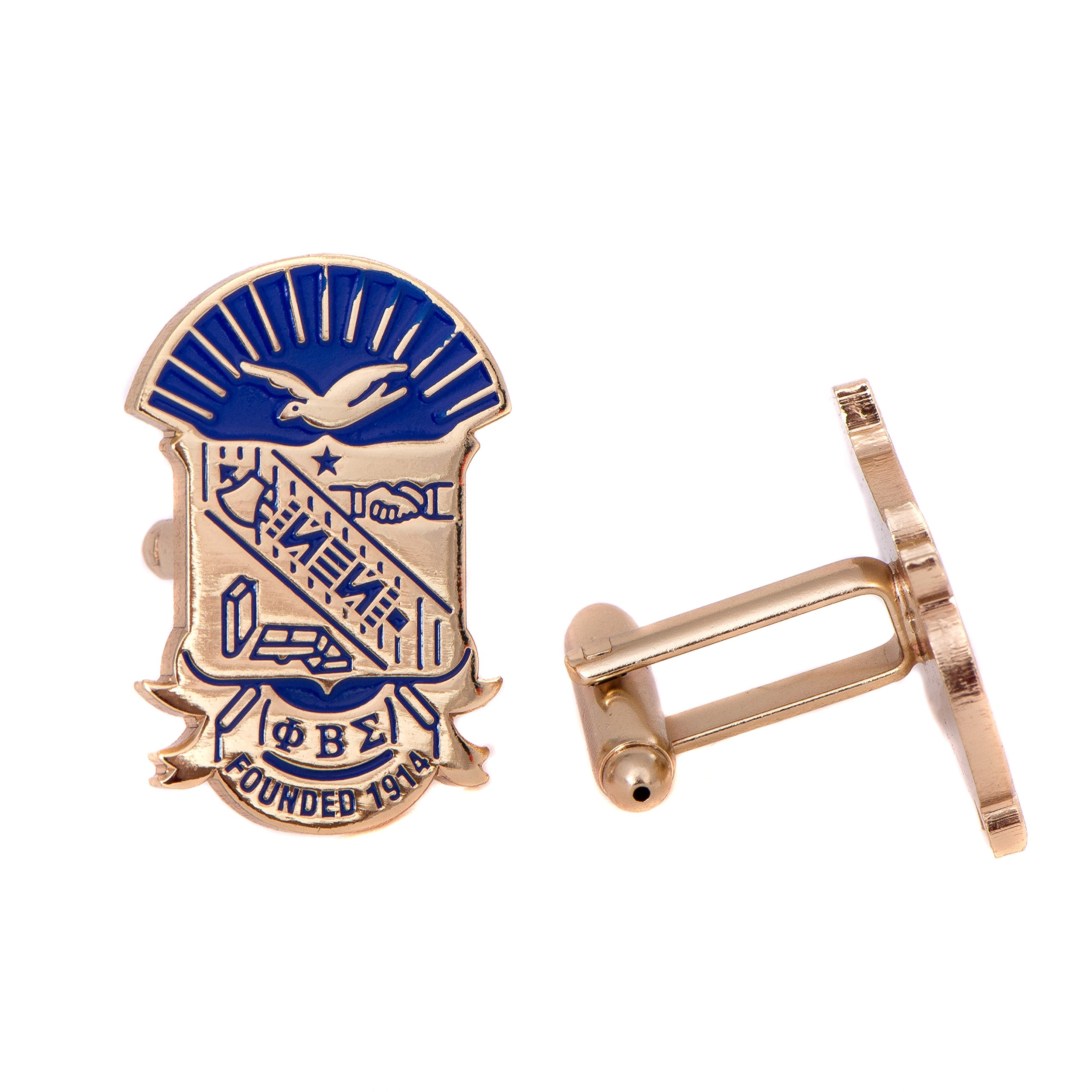 Desert Cactus Phi Beta Sigma Fraternity Gold Crest Cufflinks Greek Formal Wear Blazer Jacket