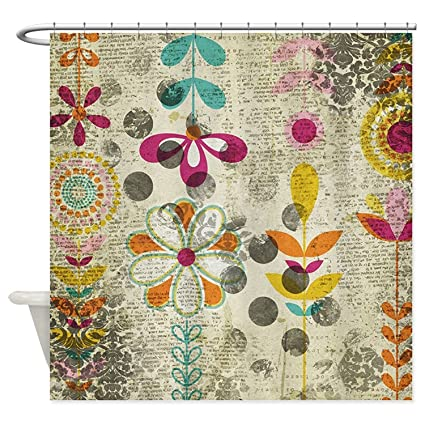 Image Unavailable Not Available For Color Angelly Bohemian Boho Flowers Shower Curtain