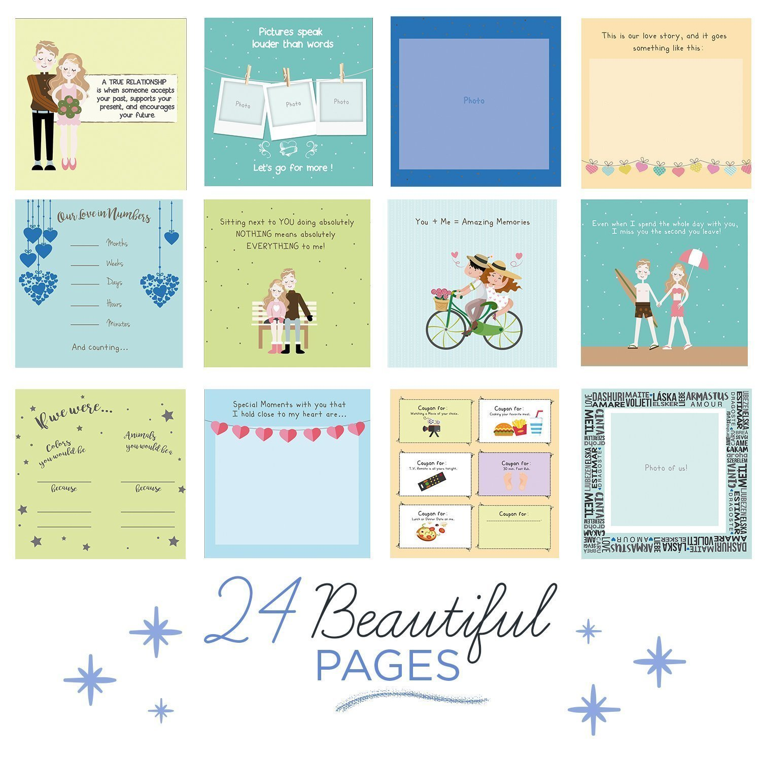 Best Boyfriend Ever Memory Book - The Best Romantic Gift Ideas For Your Boyfriend! Your BF Will Love This Cute Present For His Birthday, Valentine's Day, Christmas Or A Special Date! by Unconditional Rosie (Image #5)