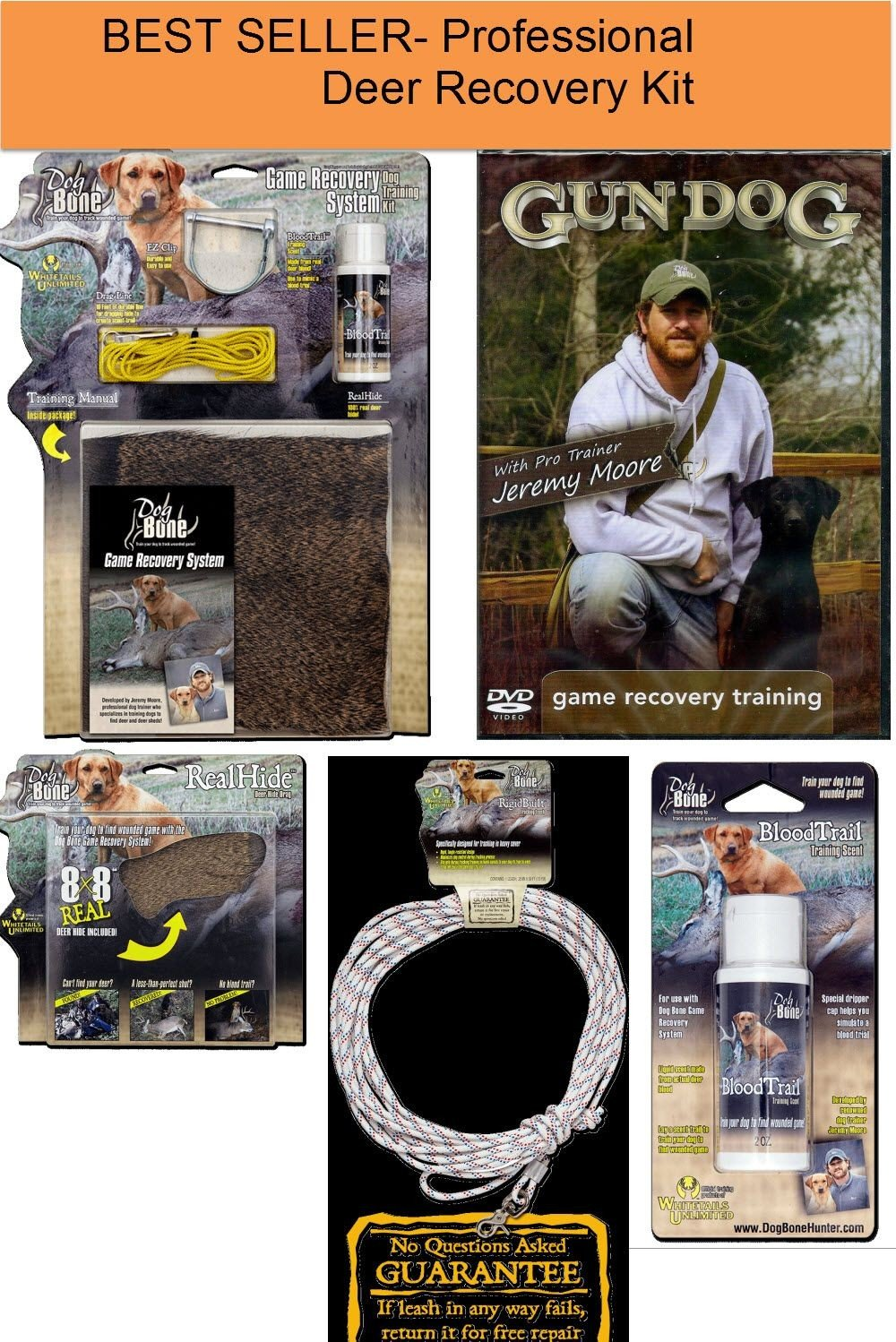 Wounded Deer Professional Dog Training System / Kit By Dog Bone Products DeerTrackingKit by Dokken