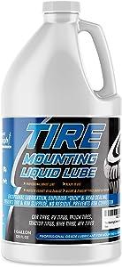 Tire Mounting & Demounting Liquid Lubricant Tack & Bead Sealing Lube for Cars, Bikes, Trucks, ATV, Camper Wheels - Reduce Rim Sliding, Rust - Super Slick Liquid Lubrication, Leak Detector (1 Gallon)