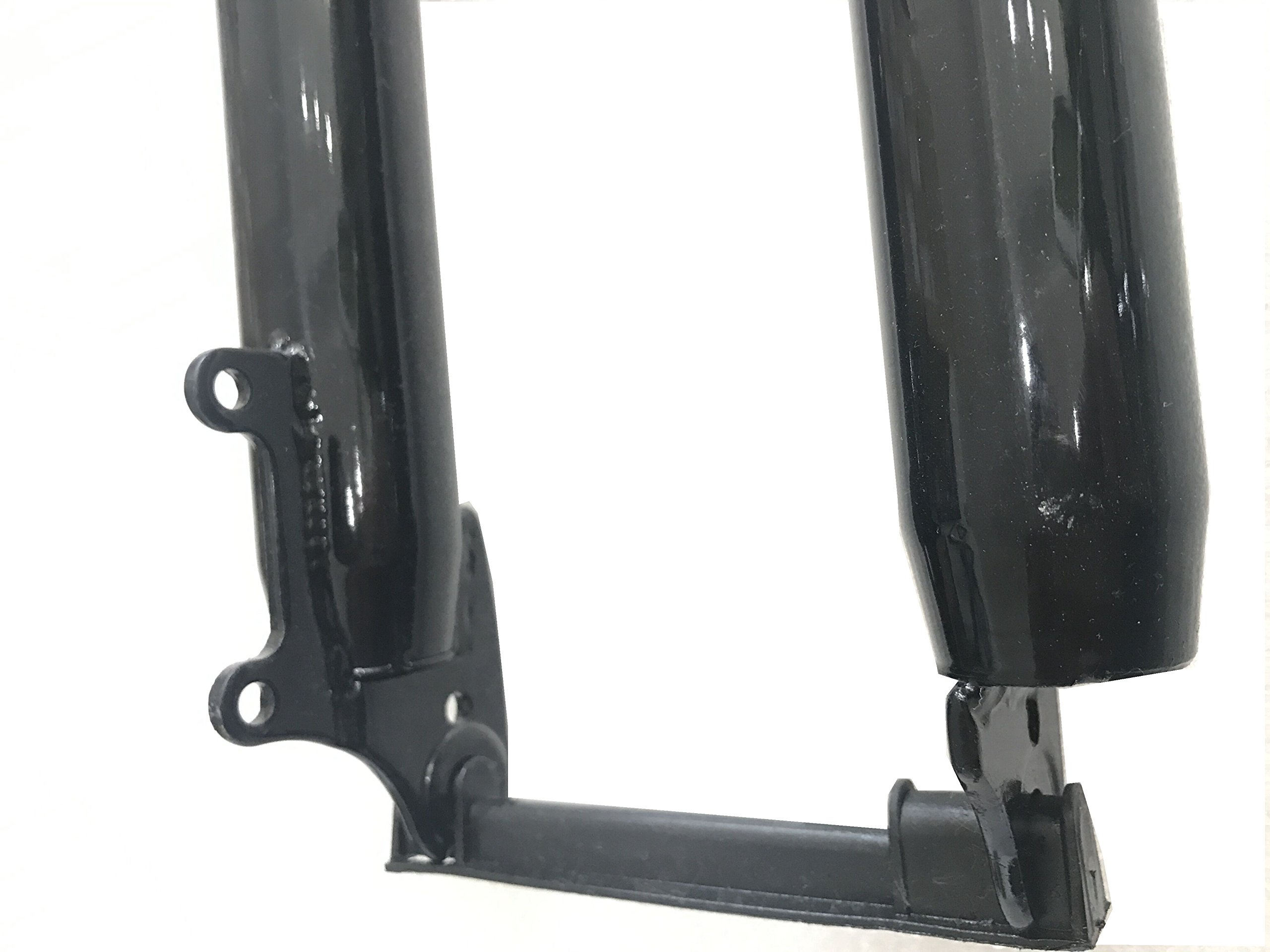 "CDHPOWER Bicycle Black Fork 26"" and 1 1/8"" Headset Combo Triple Tree Suspension Fork w/Double Shoulder Gas Motorized Bike"