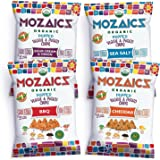 Mozaics Organic Popped Veggie & Potato Chips, 0.75oz Snack Bags (Everything, 12-pack)