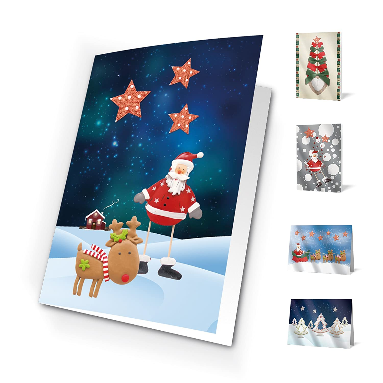 Unicef xr16031942 –  Pack di 10 biglietti Santa Scenes Forletter
